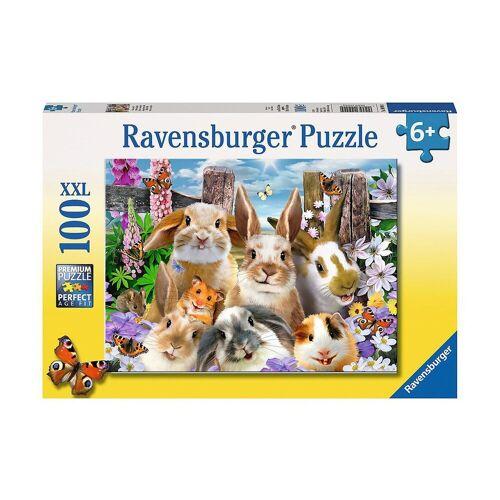 Ravensburger Puzzle »Puzzle, 100 Teile XXL, 49x36 cm, Hasen-Selfie«, Puzzleteile