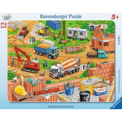 Ravensburger Rahmenpuzzle »Arbeit Auf Der Baustelle - Rahmenpuzzle«, 11 Puzzleteile