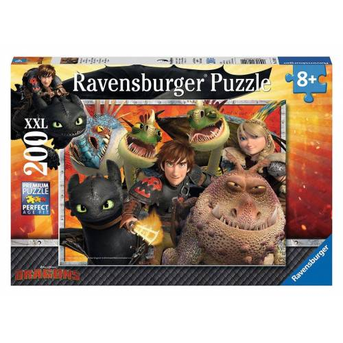Ravensburger Puzzle »Dragons - Hicks, Astrid und die Drachen«, 200 Puzzleteile, Made in Germany