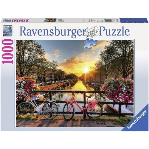 Ravensburger Puzzle »Fahrräder in Amsterdam«, 1000 Puzzleteile, Made in Germany