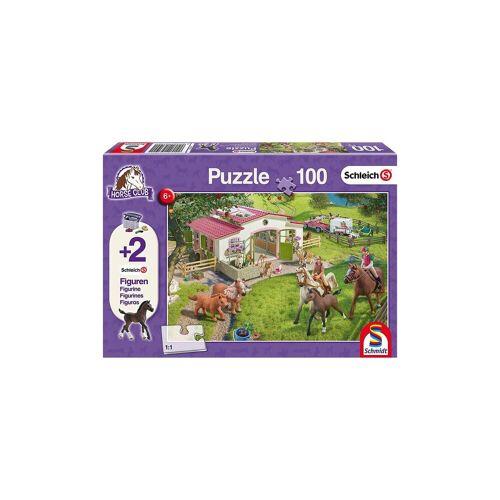Schmidt Spiele Puzzle 100 Teile Ausritt ins Grüne + 2 Schleich®-Figuren