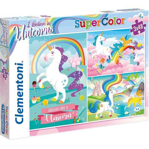 Clementoni® Puzzle »Puzzle 3x48 Teile - Einhörner«, Puzzleteile