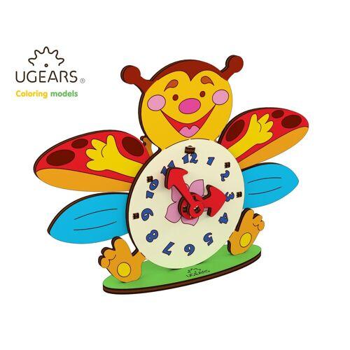 UGEARS 3D-Puzzle »Holz 3D-Puzzle Modellbausatz Marienkäfer Uhrwerk«, 23 Puzzleteile