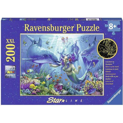 Ravensburger Puzzle »Leuchtendes Unterwasserparadies«, 200 Puzzleteile, leuchtet im Dunkeln, Made in Germany, FSC® - schützt Wald - weltweit
