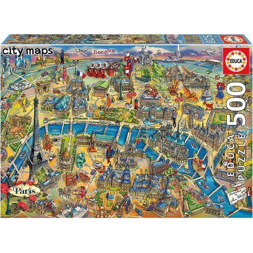 Educa Puzzle »Puzzle Paris Map, 500 Teile«, Puzzleteile