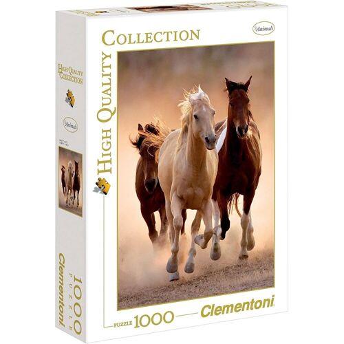 Clementoni® Puzzle »Clementoni - Running Horses, 1000 Teile Puzzle«, 1000 Puzzleteile