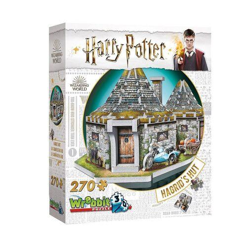 Wrebbit 3D-Puzzle »3D-Puzzle Hagrids Hütte - Harry Potter, 270 Teile«, Puzzleteile