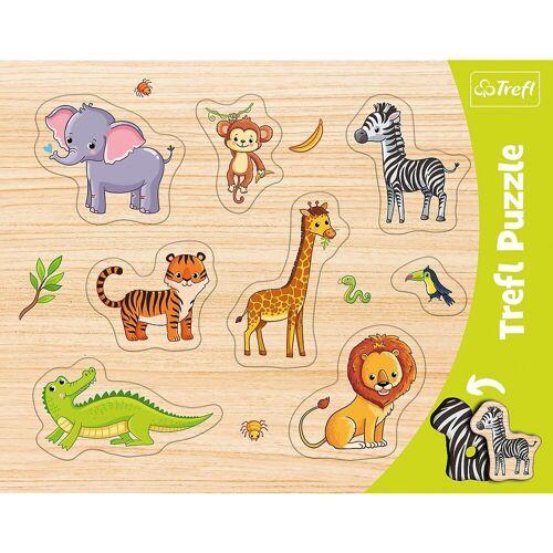 Trefl Puzzle »Konturenpuzzle - Exotische Tiere, 8 Teile«, Puzzleteile