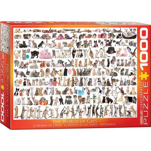 empireposter Puzzle »Katzenwelt - Katzen - 1000 Teile Puzzle Format 68x48 cm«, 1000 Puzzleteile