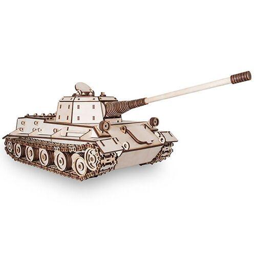 ECO Wood Art 3D-Puzzle »Löwe – Panzer – mechanischer Modellbausatz aus Holz«, Puzzleteile