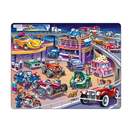 Larsen Puzzle »Rahmen-Puzzle, 58 Teile, 36x28 cm, Autos«, Puzzleteile