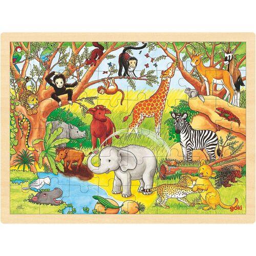 goki Puzzle »Holzpuzzle 48 Teile Afrika«, Puzzleteile