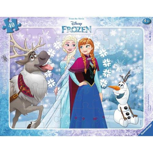 Ravensburger Rahmenpuzzle »Anna und Elsa - Rahmenpuzzle«, 40 Puzzleteile