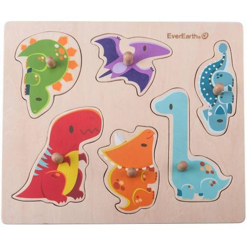 EverEarth® Puzzle »Puzzle - Dinosaurier«, 6 Puzzleteile