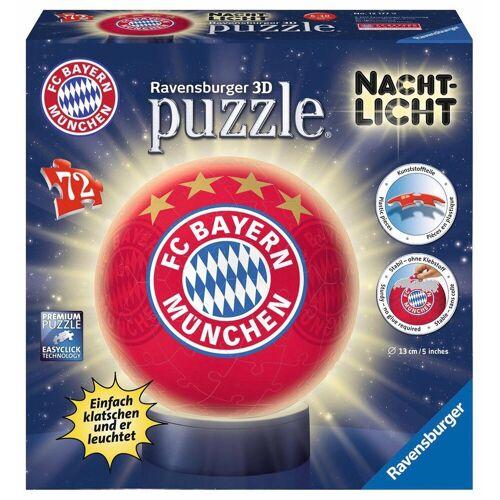 Ravensburger Puzzleball »Nachtlicht FC Bayern München«, 72 Puzzleteile, mit Leuchtmodul inkl. LEDs
