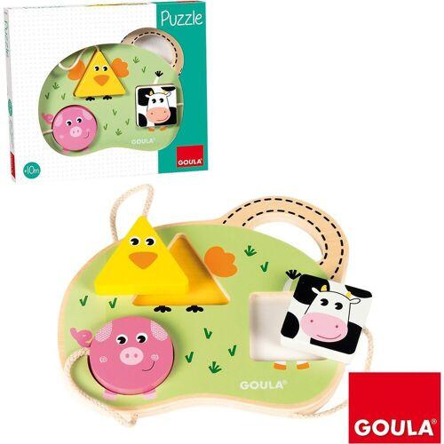 Goula Puzzle »Holzpuzzle 3 Bauernhoftiere«, Puzzleteile
