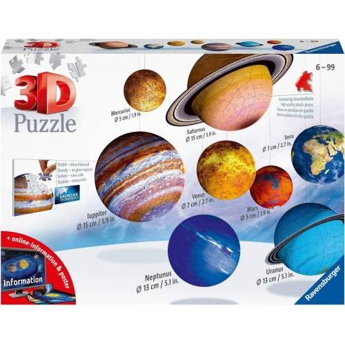 Ravensburger 3D-Puzzle »Planetensystem«, 522 Puzzleteile, Made in Europe
