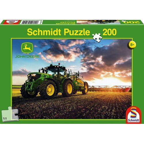 Schmidt Spiele Puzzle »John Deere, Traktor 6150R mit Güllefass, 200 Teile«, Puzzleteile