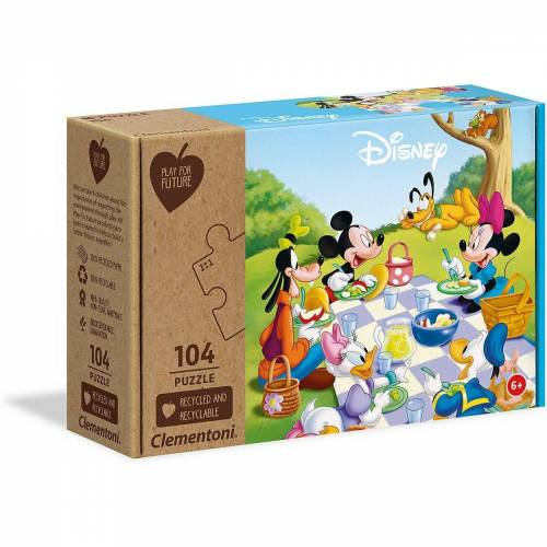 Clementoni® Puzzle »Puzzle 104 Teile - Play for Future - Mickey Mouse«, Puzzleteile