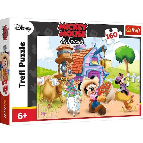 Trefl GmbH Puzzle »Trefl 15337 - Mickey Mouse and Friends, 160 Teile«, 160 Puzzleteile