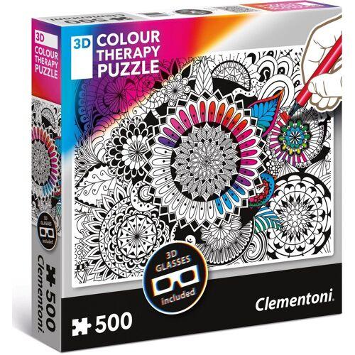 Clementoni® Puzzle »Colour Therapy - Blumen«, 500 Puzzleteile, mit 3D Effekt; Made in Europe