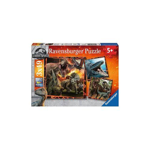 Ravensburger Puzzleset 3 x 49 Teile Jurassic World: Fallen Kingdom
