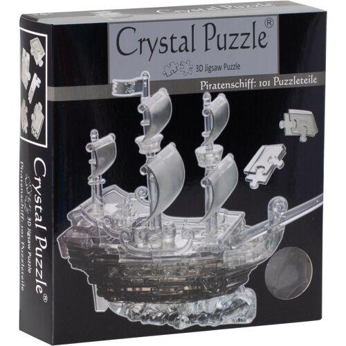 HCM KINZEL 3D-Puzzle »Crystal Puzzle, Piratenschiff transparent«, 101 Puzzleteile