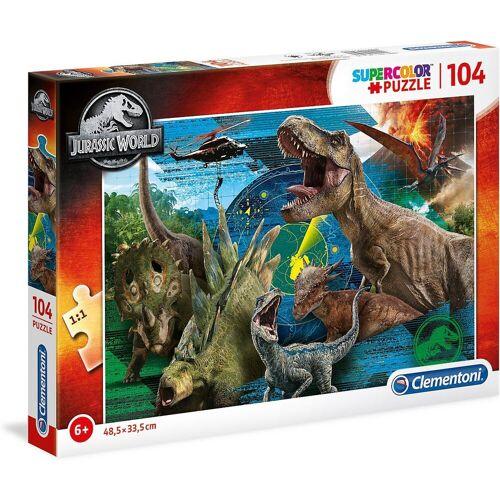 Clementoni® Puzzle »Puzzle 104 Teile Supercolor - Jurassic World«, Puzzleteile