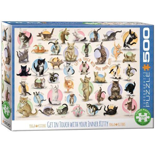 empireposter Puzzle »Yoga Kätzchen - 500 Teile Puzzle im Format 68x48 cm«, 500 Puzzleteile