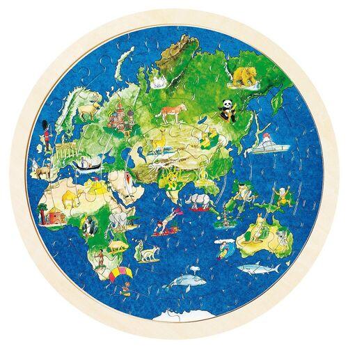 goki Puzzle »Einlegepuzzle Weltkugel«, Puzzleteile