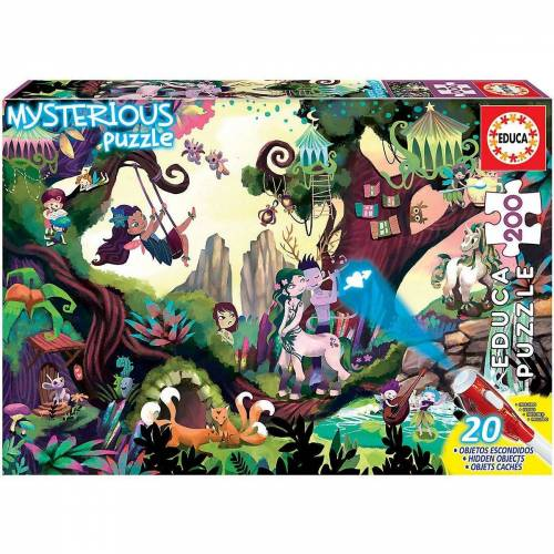 Educa Puzzle »Mysterious Puzzle- Magic Forest, 200 Teile«, Puzzleteile