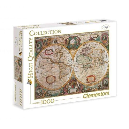 Clementoni® Puzzle »Clementoni - Old Map, 1000 Teile Puzzle«, 1000 Puzzleteile