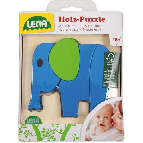 Lena® Steckpuzzle »Holzpuzzle Tiere 4er-Set«, Puzzleteile