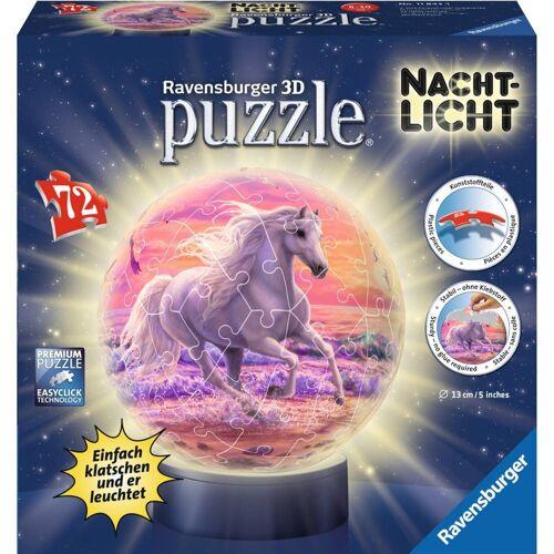 Ravensburger 3D-Puzzle »Pferde Am Strand - Puzzle-Ball, Nachtlicht«, 72 Puzzleteile
