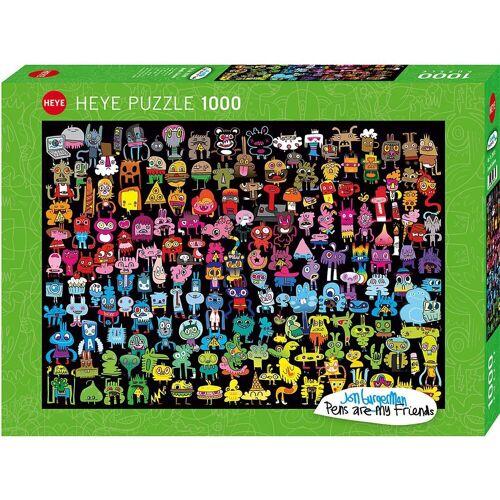 HEYE Puzzle »Puzzle Doodle Rainbow, 1000 Teile«, Puzzleteile