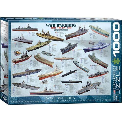 empireposter Puzzle »Historische Kriegsschiffe des 2. Weltkriegs - 1000 Teile Puzzle im Format 68x48 cm«, 1000 Puzzleteile