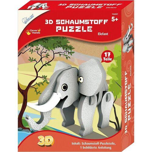 MAMMUT Spiel und Geschenk 3D-Puzzle »3D Schaumstoff Puzzle Elefant«, Puzzleteile