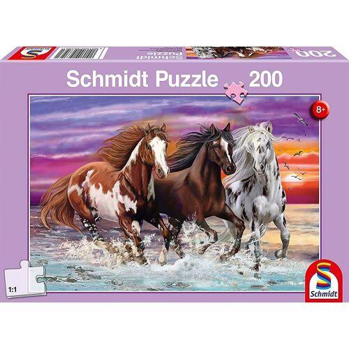 Schmidt Spiele Puzzle »Puzzle - Wildes Pferde-Trio, 200 Teile«, Puzzleteile