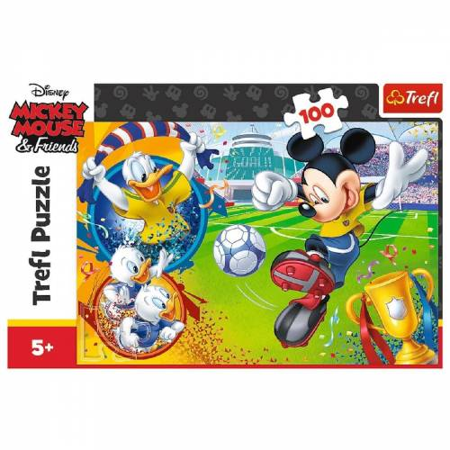 Trefl GmbH Puzzle »Trefl 16353 - Mickey Mouse and Friends, 100 Teile«, 100 Puzzleteile