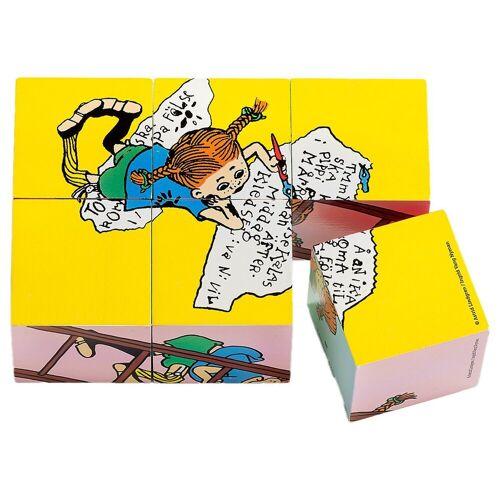 Micki Würfelpuzzle »Pippi Langstrumpf Würfelpuzzle, 6 Teile«, Puzzleteile