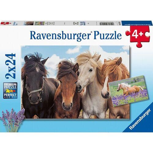Ravensburger Puzzle »Puzzle Pferdeliebe, 2x20/2x24 Teile«, Puzzleteile