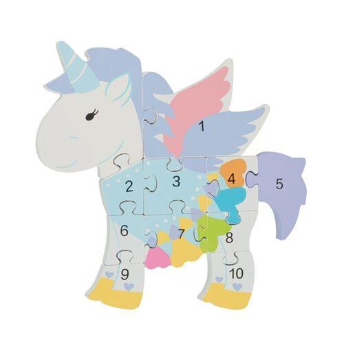 Nici Konturenpuzzle »Zahlenpuzzle Einhorn«, 11 Puzzleteile