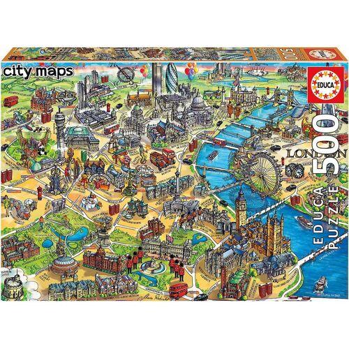 Educa Puzzle »Puzzle London Map, 500 Teile«, Puzzleteile