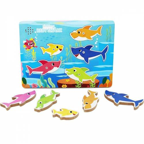 Spin Master Steckpuzzle »Games Baby Shark Sound-Puzzle«, Puzzleteile