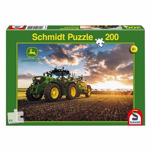 Schmidt Spiele Puzzle »John Deere Traktor 6150R mit Güllefass«, 200 Puzzleteile