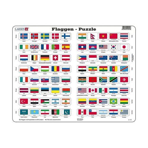 Larsen Puzzle »Rahmen-Puzzle, 80 Teile, 36x28 cm, Flaggen«, Puzzleteile