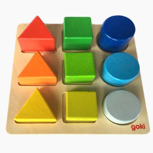 goki Steckpuzzle »Puzzle Steckbrett «, 9 Puzzleteile