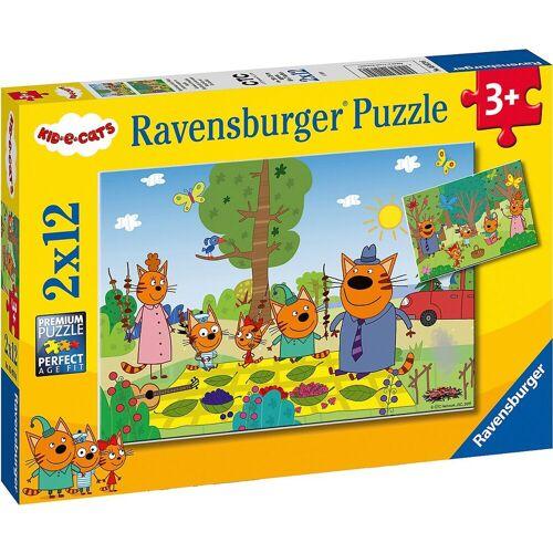 Ravensburger Puzzle »Puzzle Familientag in der Natur, 2x12 Teile«, Puzzleteile