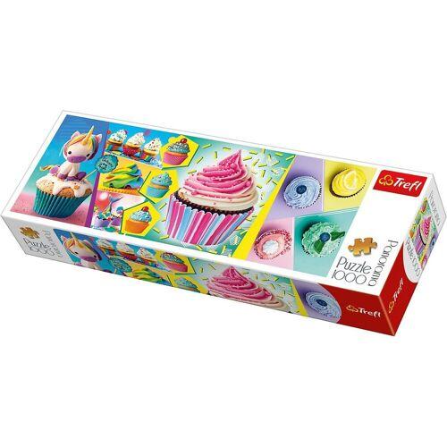 Trefl Puzzle »Panorama Puzzle 1000 Teile - Cupcakes Collage«, Puzzleteile