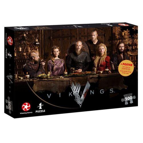 Winning Moves Steckpuzzle »Puzzle Vikings Ragnar's Court 500 Teile«, 500 Puzzleteile